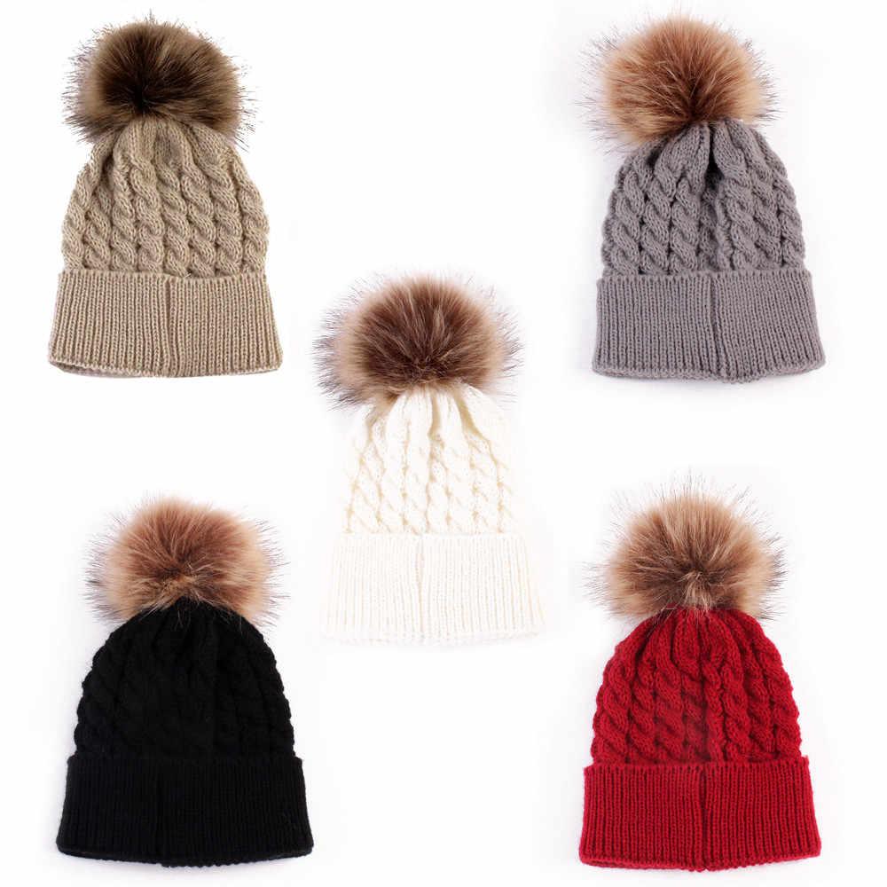 หมวกเด็กหมวกฤดูหนาวทารกแรกเกิดเด็กน่ารักฤดูหนาวเด็กหมวกถัก Hemming หมวก Dropshipping шапка детская ##0
