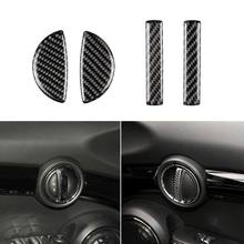 4PCS for Mini Cooper F55 Clubman F54 Countryman F60 Accessories Interior Carbon Fiber Door Handle Cover Trim Stickers 57BA(China)