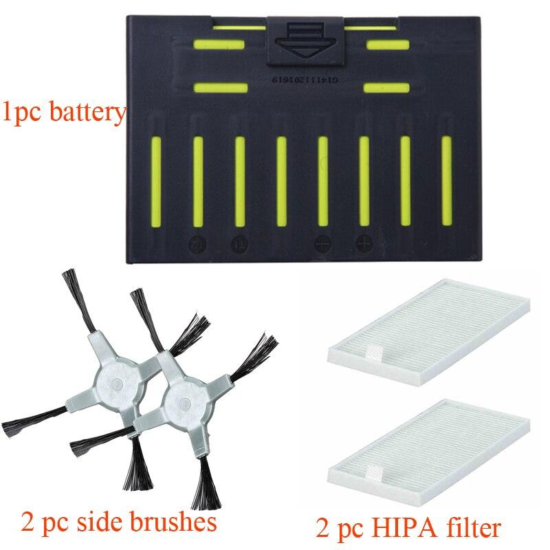 Cleanmate Аккумулятор для робота-пылесоса для QQ5/QQ6 боковая щетка HIPA фильтр аксессуары Запчасти сумка оригинальная Запасная часть