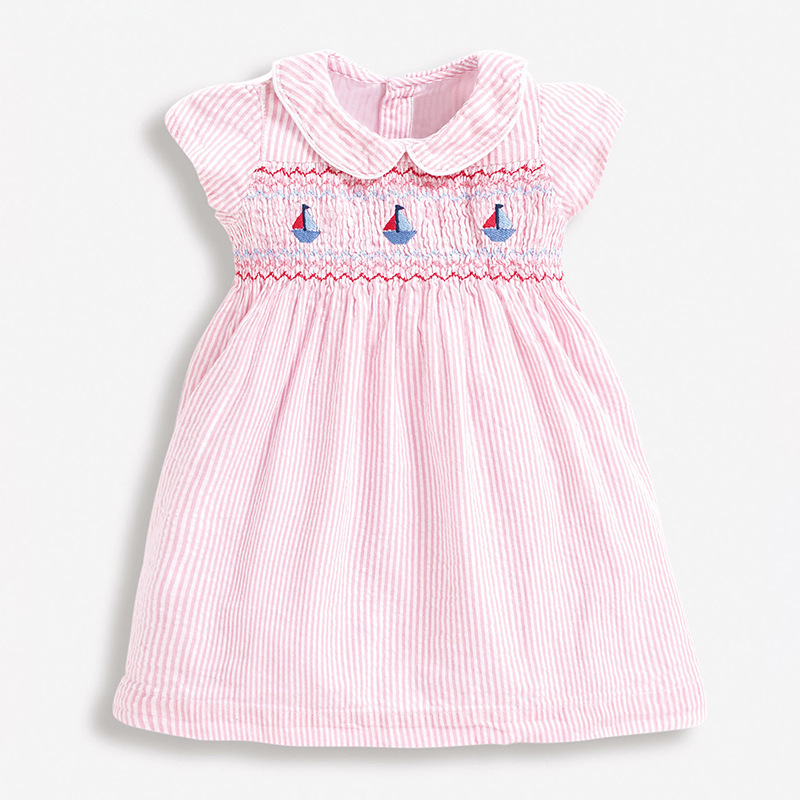 Little Maven 2021 New Summer Baby Girls Clothes Brand Dress Toddler Cotton Striped Boat Print Dresses for Kids 2-7 Years S0958 1