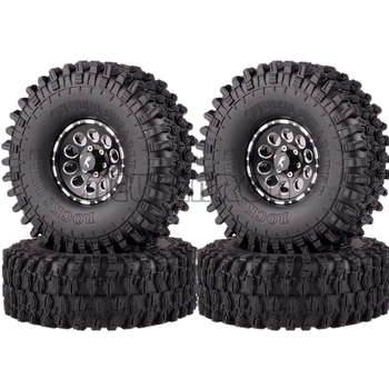 "NEW ENRON 4P 1.9"" Wheel Rims 120MM Super Swamper Tyre Tires For 1/10 RC Rock Crawler Axial SCX10 SCX10 II 90046 90047 D90 D110"