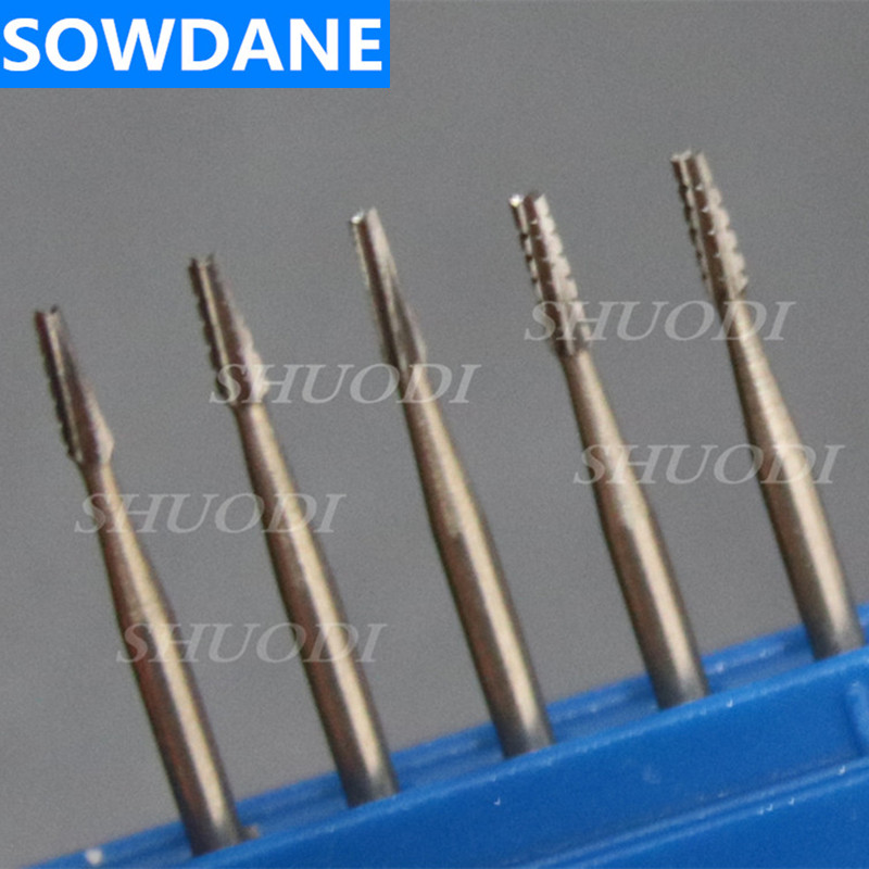 5 Pieces/Pack Dental Tungsten Steel Carbide Burs High Speed 1.6mm Handpiece Dental Bur Set Dental Diamond Bur Split Material