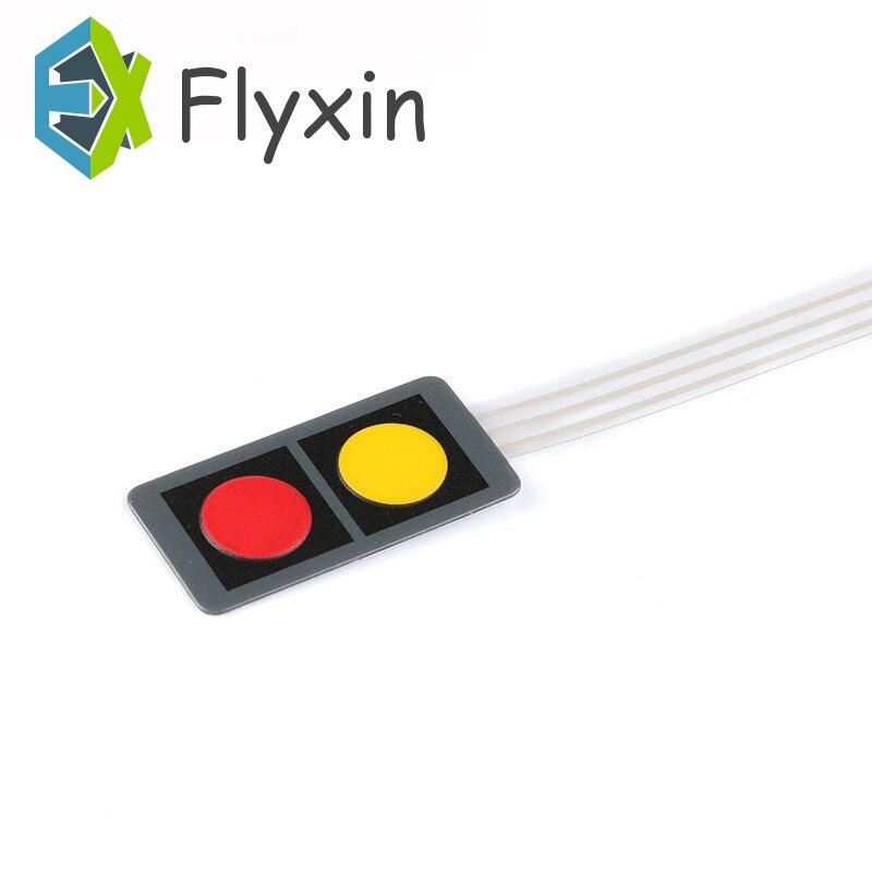 Corriente continua 20 x40 12V 1x2 2 matriz clave Hágalo usted mismo planos de control Interruptor de Membrana Teclado