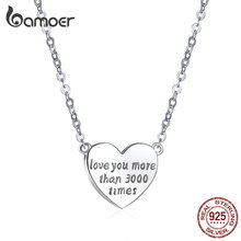 bamoer Engrave Love Necklace Gifts for Women
