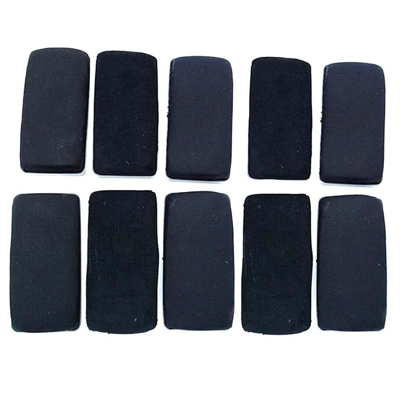 10 Pack Black Magnetic Whiteboard Dry Erasers Chalkboard Cleaner Marker Wiper For Home Classroom Office School Supply Stationery