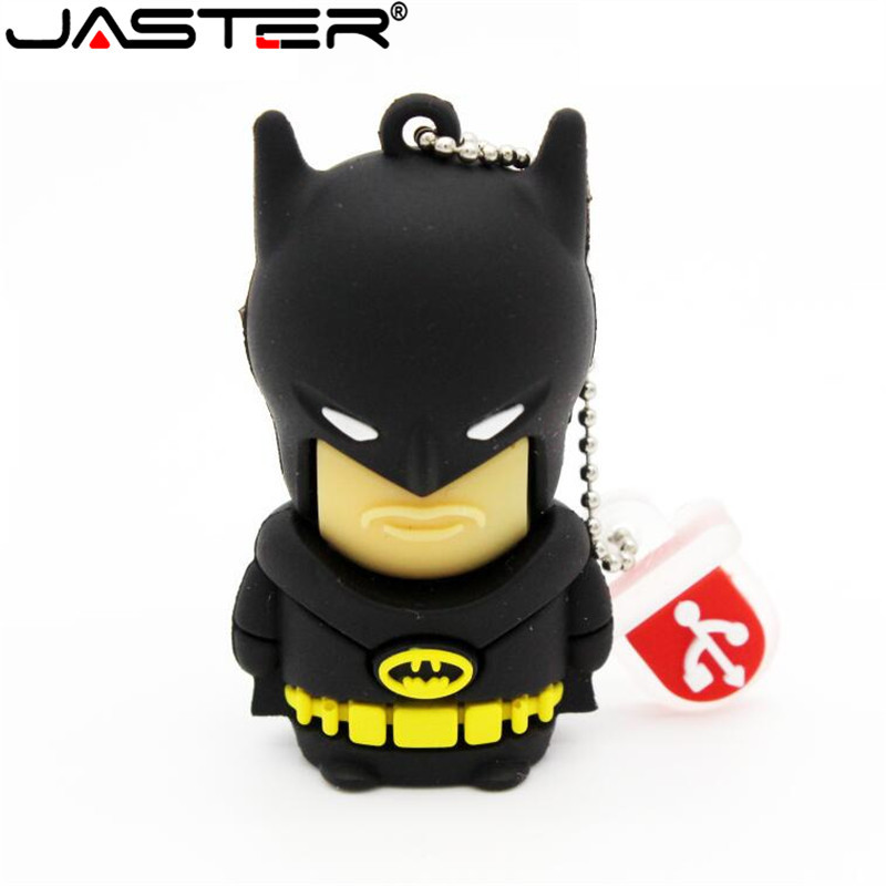 JASTER Batman USB Flash Drive Bat Man Pen Drive Special Gift Fashion Hot Sale Cartoon Pendrive 4GB 16GB 32GB 64GB Memory Stick