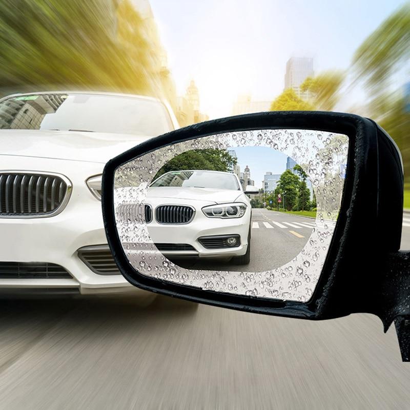 Auto Car Rearview Mirror Waterproof Anti-Fog Membrane Film Rainproof Rear View Motorcycle Car Sticker Accessories