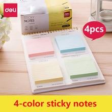 Post-it notlar Memo Pad yapışkan notlar yaratıcı N zamanlı çıkartmalar sevimli taze renk sayfalama etiket kitap ofis kırtasiye malzemeleri 4