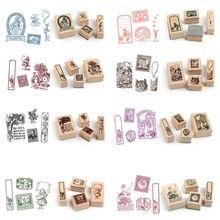 Stamp-Set Pattern Vintage Scrapbooking Standard-Stamp Girls Baby Kids Children for Art-Crafts