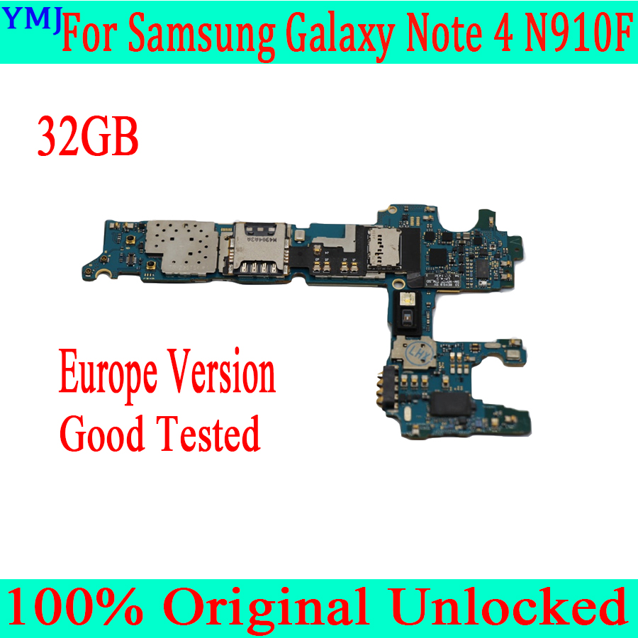 with Android System <font><b>For</b></font> <font><b>Samsung</b></font> <font><b>Galaxy</b></font> <font><b>Note</b></font> <font><b>4</b></font> N910F <font><b>Motherboard</b></font>,32GB Original unlocked <font><b>for</b></font> <font><b>Note</b></font> <font><b>4</b></font> N910F <font><b>Mainboard</b></font>,Good Tested image