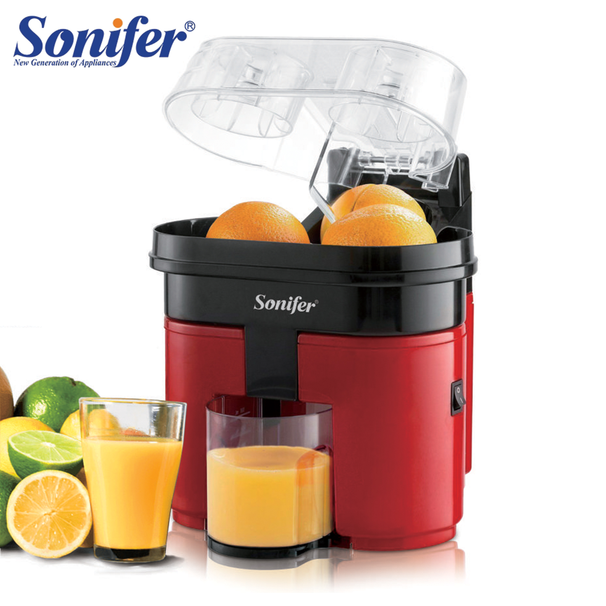 Fast Double Juicer 90W Electric Lemon Orange Fresh Juicer With Anti-drip Valve Citrus Fruits Squeezer Household 220V Sonifer