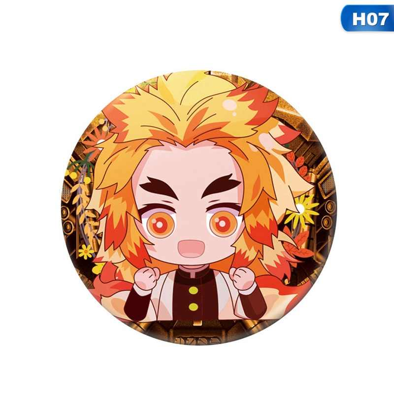 Anime Demon Slayer Bros Pin Kimetsu Tidak Yaiba Kamado Tanjirou Cosplay Bedge Kartun Mengumpulkan Tas Ransel Lencana Tombol