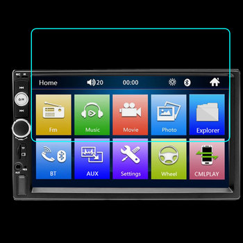 Tempered Glass Protector Portective Film For AMPrime Universal 2 din Car Multimedia Player Autoradio 2din Stereo Screen image
