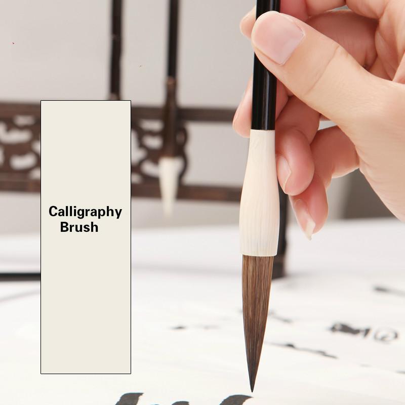 3pcs Calligraphy Brushes Mouse Whisker Seal Script Calligraphy Brush Traditional Calligraphy Writing Chinese Painting Brush Pens
