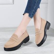 Женские замшевые туфли на толстой плоской подошве оксфорды платформе