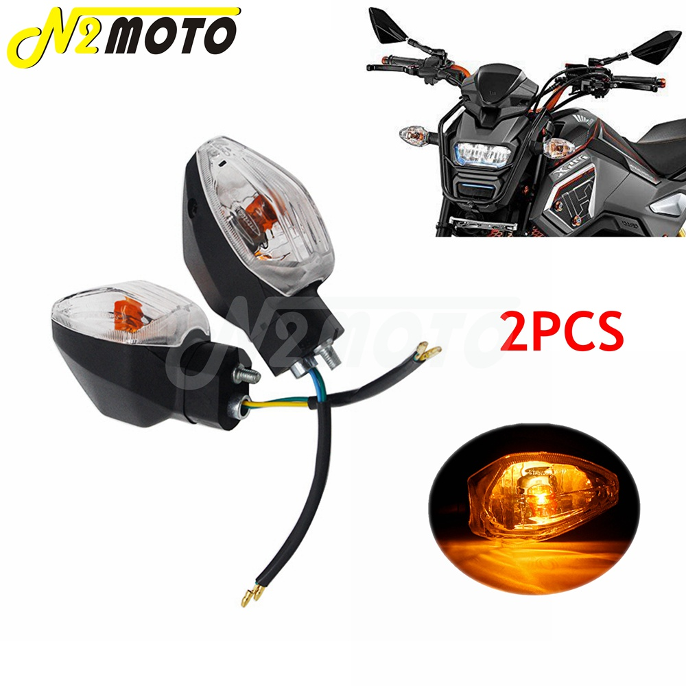 Paar Motorcycle Turn Signals Light E4 Mark 12V Lamp Verlichting Knippert Indicator Lamp Voor Honda Grom Msx 125 2017 2018 2019 2020 image