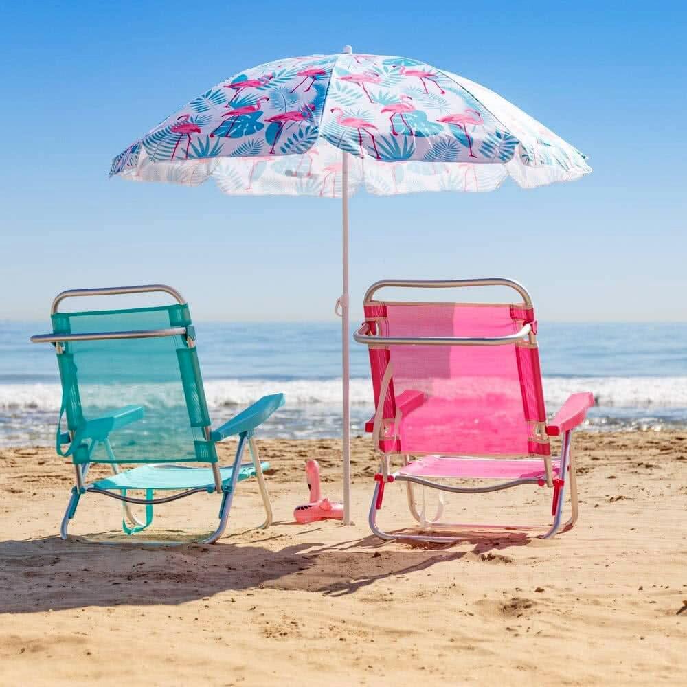 Flamingo Beach sunshade pink steel Ø 180 cm