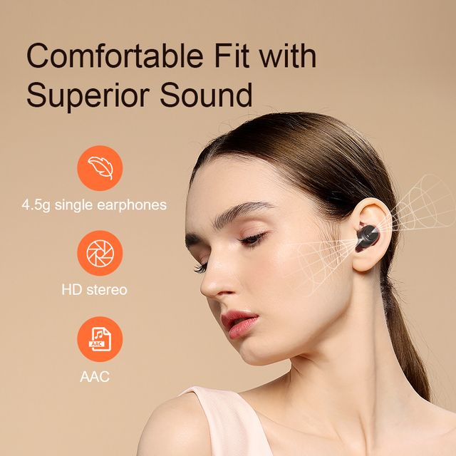 QCY T1C Power HiFi stereo earphone wireless headset Bluetooth 5.0 headphone AAC earbuds with microphone customizing APP 3