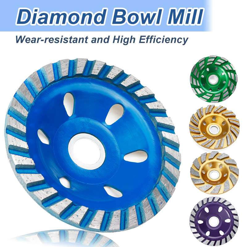Professional 5 Type 4 Inch 100mm Diamond Grinding Wheel Disc Bowl Shape Grinding Cup Concrete Granite Stone Ceramics Tools