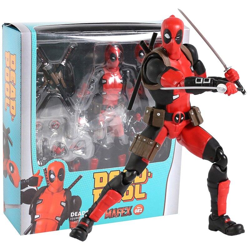 MAFEX NO.082 Deadpool Gurihiru Art Ver. PVC Action Figure Collectible Model Toy