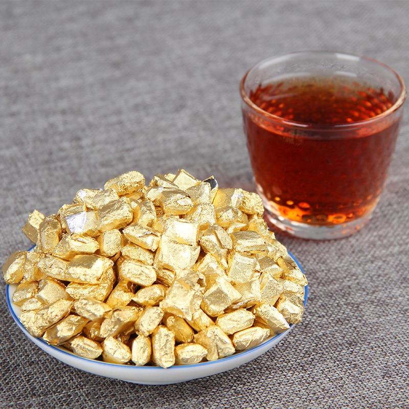 Pu'er Tea 100g/250g Chinese Shu Pu'er Chagao Gold Tin Foil Packing Ripe Pu-erh Green Food Resin Tea Cream