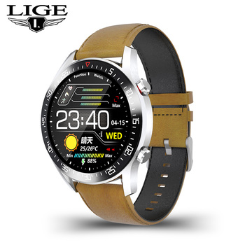 LIGE  fashion Full circle touch screen Mens Smart Watches  IP68 Waterproof Sports Fitness Watch Luxury Smart Watch for men 11
