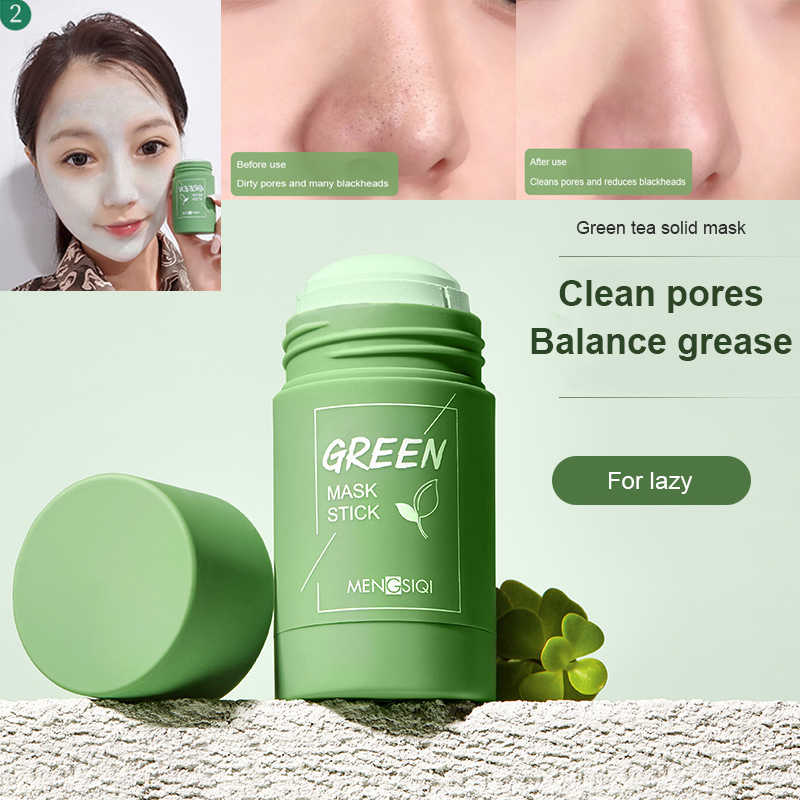 Green Tea Oil Control Solid Mask For Face Deep Cleansing Mask Peeling Acne Face  Mask Oil Control Moisturizing Skin Care TSLM1| | - AliExpress