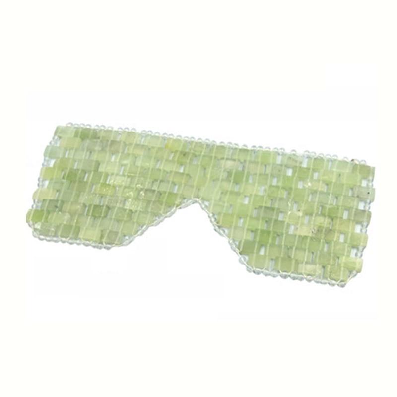 Natural Jade Eye Mask Jade Eye Curtain Face Massager Sleep Mask Stone Massage Wrinkle Remove Jade Mask Beauty Care Tool With Box