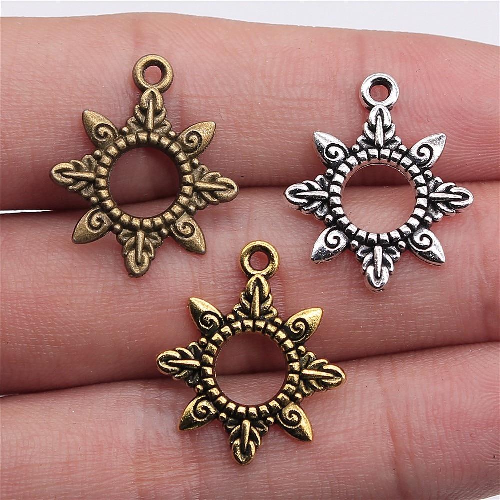 20pcs/lot Charms Sun DIY Jewelry Findings 22x18mm Sun Charms