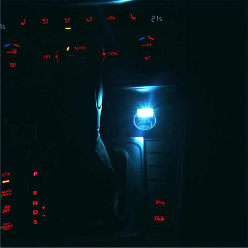 Mobil Styling USB Lampu Hias LED Suasana Lampu Universal PC Portabel Colokkan dan Mainkan Merah/Biru/Putih /Hijau/Kuning