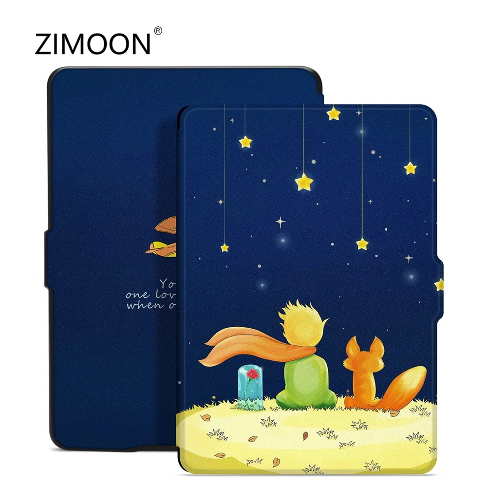 Case For Amazon Kindle Paperwhite 2 3 Print Flip Smart Cover For Paperwhite 1/2/3 PU Leather 6 Inch Tablet Case E-book Cover