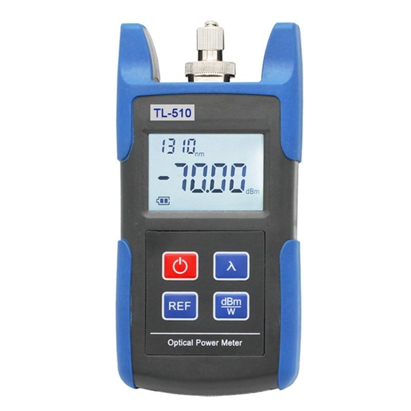 Tl510C Portable Mini Fiber Optical Power Meter For Cctv Test With -50Dbm~+26Dbm Fc Sc St Connector