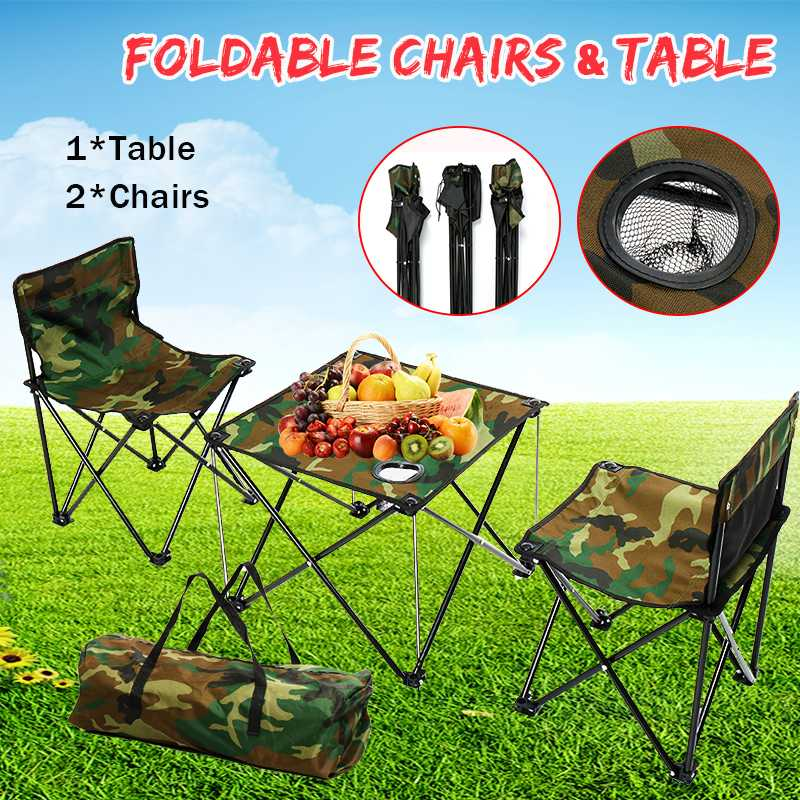 New 5 In 1 Outdoor Table And Chairs Camping Hiking Outdoor Foldable Chair Table Set Fishing Picnic BBQ Chair Seat Resting Stool