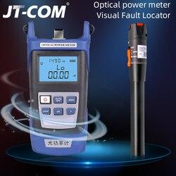 2 in1 kit de ferramentas de fibra óptica ftth fibra medidor de potência óptica-70 + 10dbm e 10km 10 mw localizador visual de falhas fibra óptica tester caneta