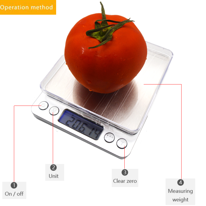 Кухонные электронные весы, Портативные карманные электронные весы, измеритель веса для кухни, с ЖК дисплеем-3