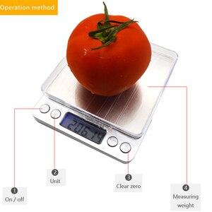 Image 4 - ميزان اليكتروني صغير محمول, 500/0.01جرام, 3000/0.1جرام بشاشة LCD لقياس وزن المجوهرات و للمطبخ و البريد