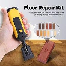 Kit de reparación de laminado, sistema de cera, encimera de suelo, carcasa robusta, Chips, juego de herramientas de reparación de arañazos para uso en el hogar, caravana