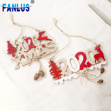 1pcs Wood Merry Christmas 2020 Year Hanging Ornaments Decorations Windows Tree Top Decoration Wooden Gifts for Kids