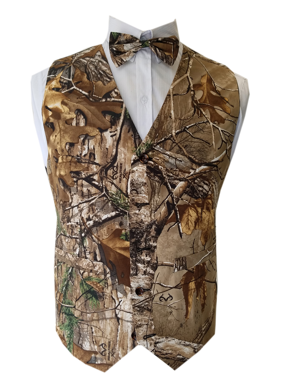 Man Camouflage Vests For Wedding Groom Wear Realtree AP Camo Vests Bow Ties Custom Make Free Shipping