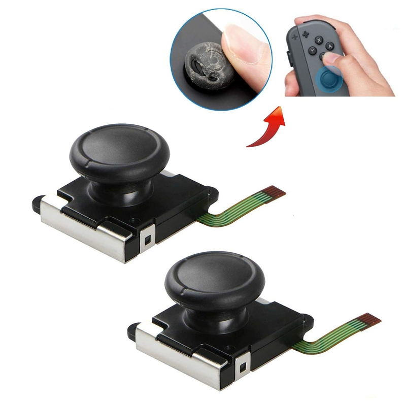 2-Pack 3D Analog Joystick Joycon Analog Stick For Switch Joystick Replacement Joy Con Controller Thumb Stick Replace (2-Pack)