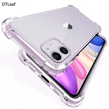 DTLeaf Luxury Silicone Phone case For iphone12 Pro Xs max XR transparent Shockproof 7 8plus 6 6s soft Protection Back Cover image