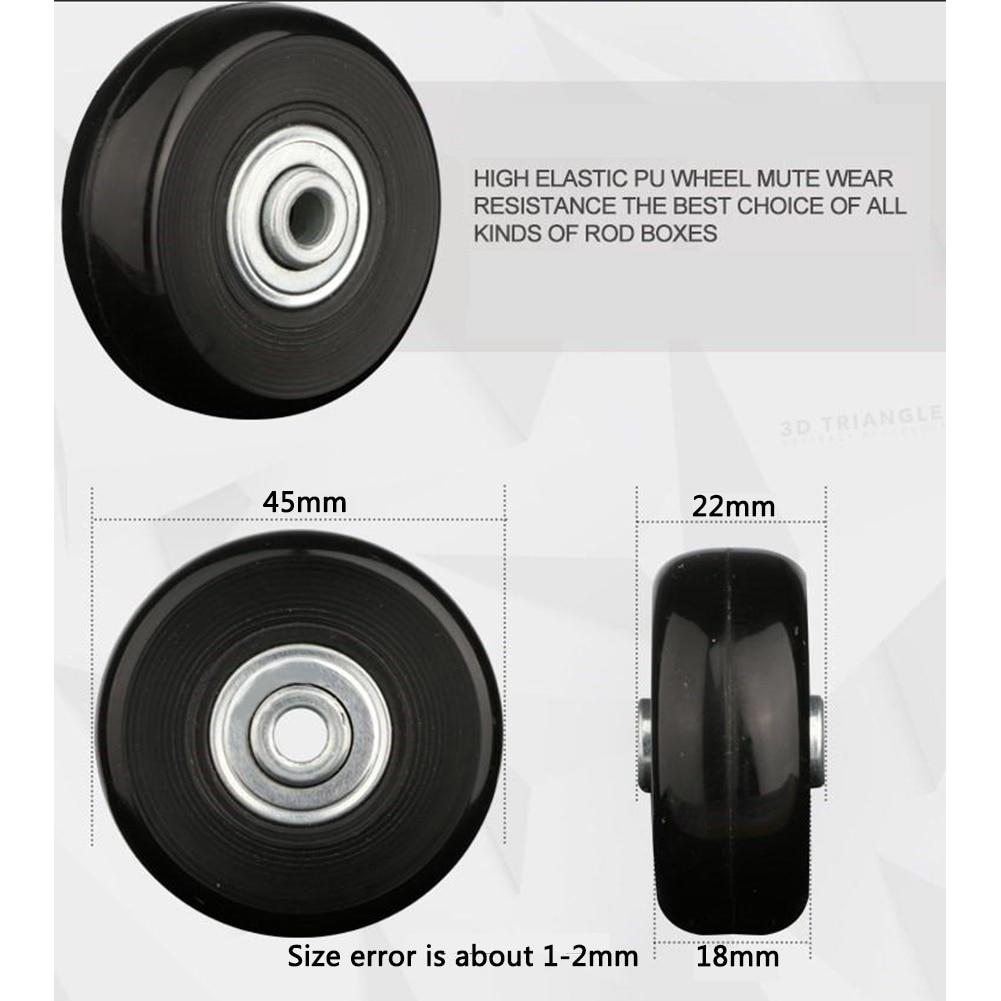 Silent Luggage Wheel Suitcase Parts Sliding Wear Resistant Rubber Axles Replacement Durable Repair Practical Universal Flexible