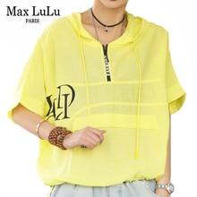 Max LuLu 2021 British New Style Summer Tops Ladies Casual Hooded Printed Tshirts Womens Vintage Tee Shirts Female Punk Clothing
