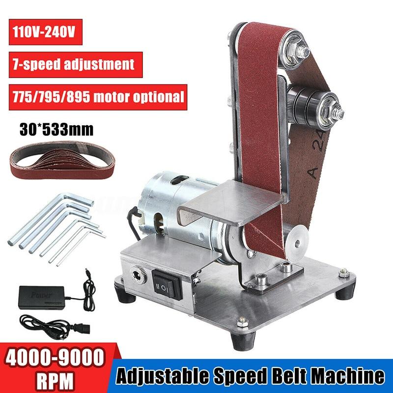 Image 2 - ミニ DIY ベルトサンダーサンディング研削盤研磨ベルトグラインダー研磨 TUE88研磨工具   -