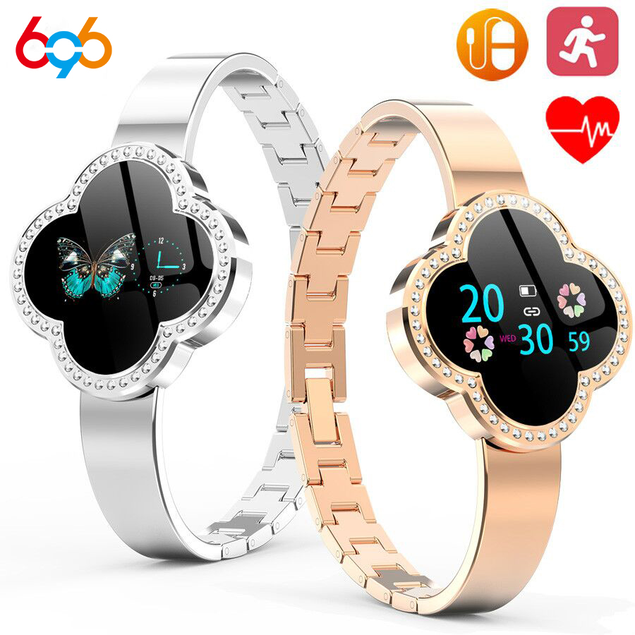 Wristband Bracelet Fitness-Tracker Smart-Watch Blood-Pressure-Heart-Rate Android Ladies title=