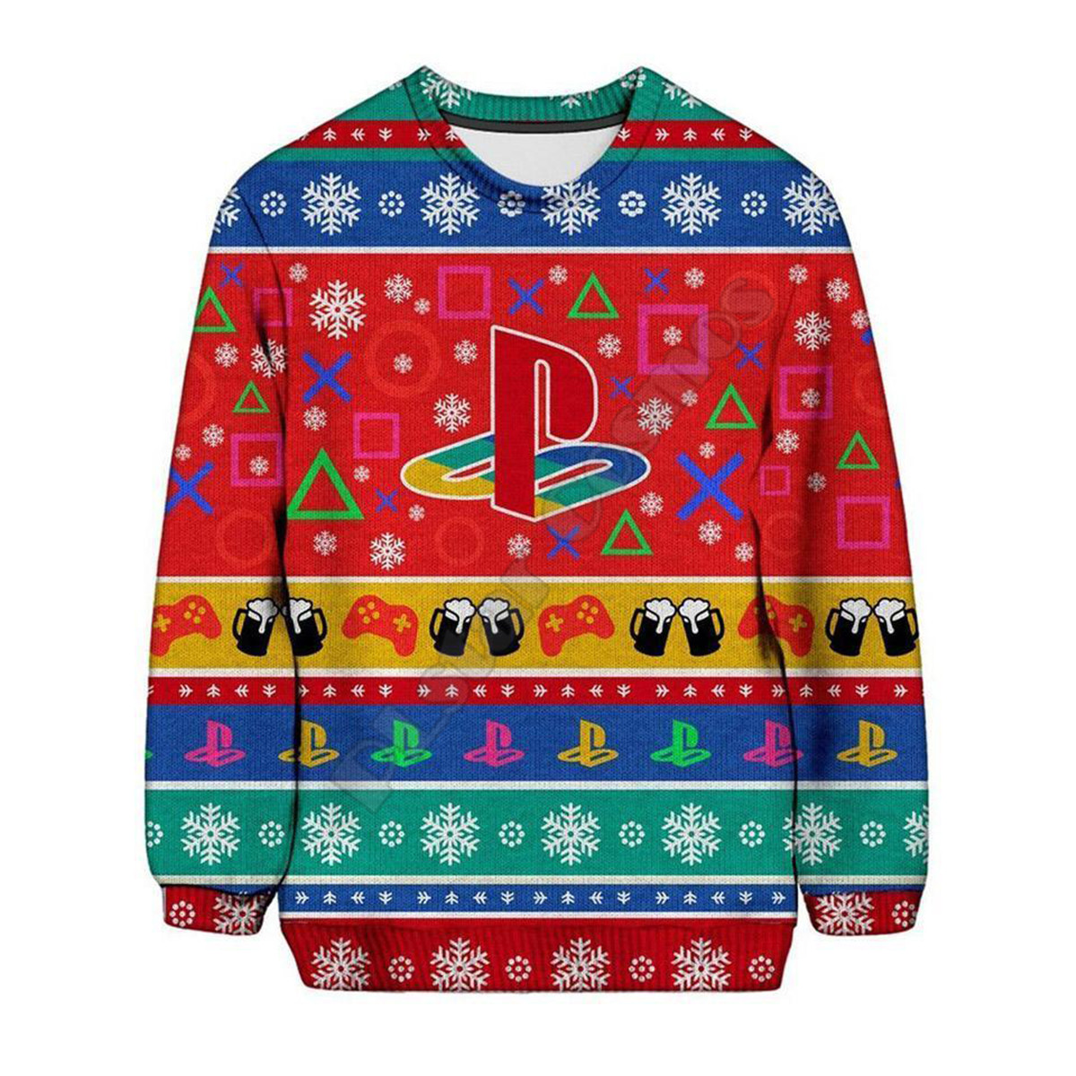 PLstar Cosmos Christmas Sweater Fashion Funny Hoodies Playstation 3D printed Sweatshirts Women For Men Pullover Cosplay Costumes