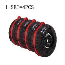 4 шт. чехол для запасного колеса из полиэстера для зимних и летних автомобильных шин сумка для хранения автомобильных шин аксессуары для колес автомобиля