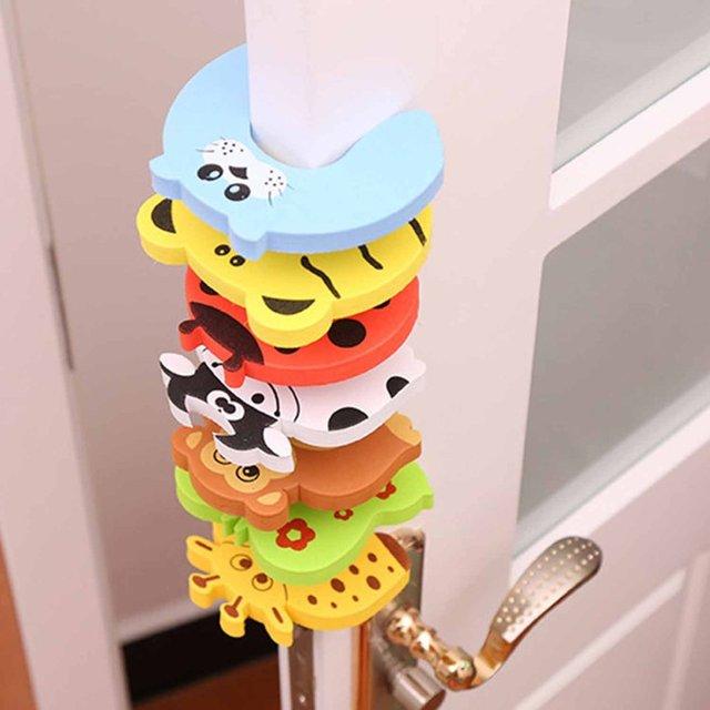 1 Pcs Cofre Infantil Door Stop Seguridad Puerta Stylish Baby Finger Pinch Guards Keep Safety Children Holder Random Color 2
