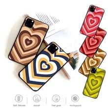 Popolar simples amor coração caso de telefone móvel para huawei p30 p30 lite p9 p9 p10 p20 p40 pro p inteligente