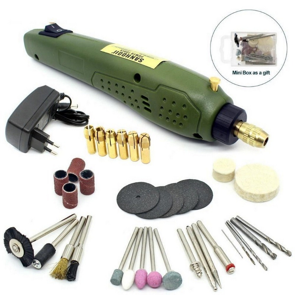 Grawer Dremel styl 16000 obr/min elektryczne narzędzie obrotowe wiertarka elektryczna moc narzędzia DIY Mini-wiertarko-frezarka maszyna do mielenia